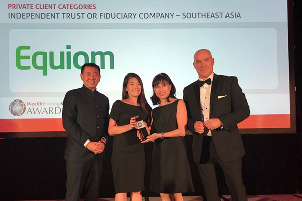 Serene Tan and Wendy Yeo at WealthBriefing Asia Awards 2018
