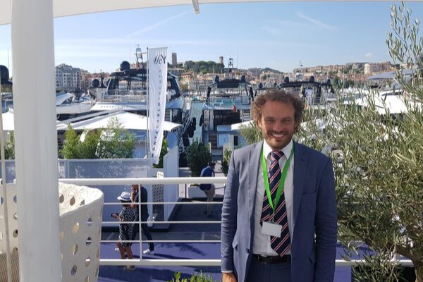 Ian Petts attending the 2019 Cannes Yachting Festival
